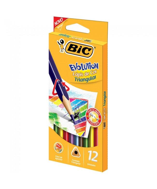 Lápis de cor Evolution 12 cores Bic