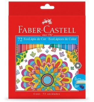 Lápis de cor 72 cores Ecolápis Faber Castell 120172G