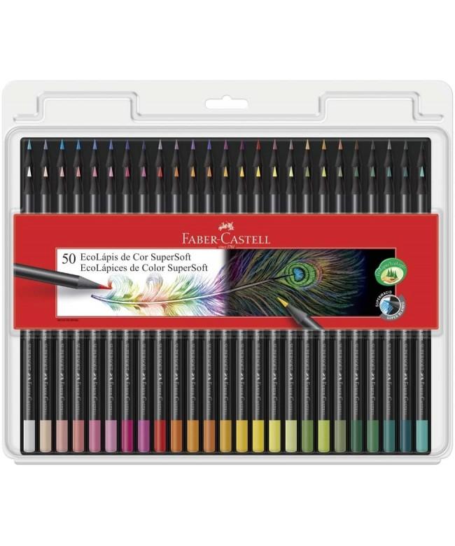 Lápis de cor 50 ecolápis Supersoft Faber Castell 120750SOFT