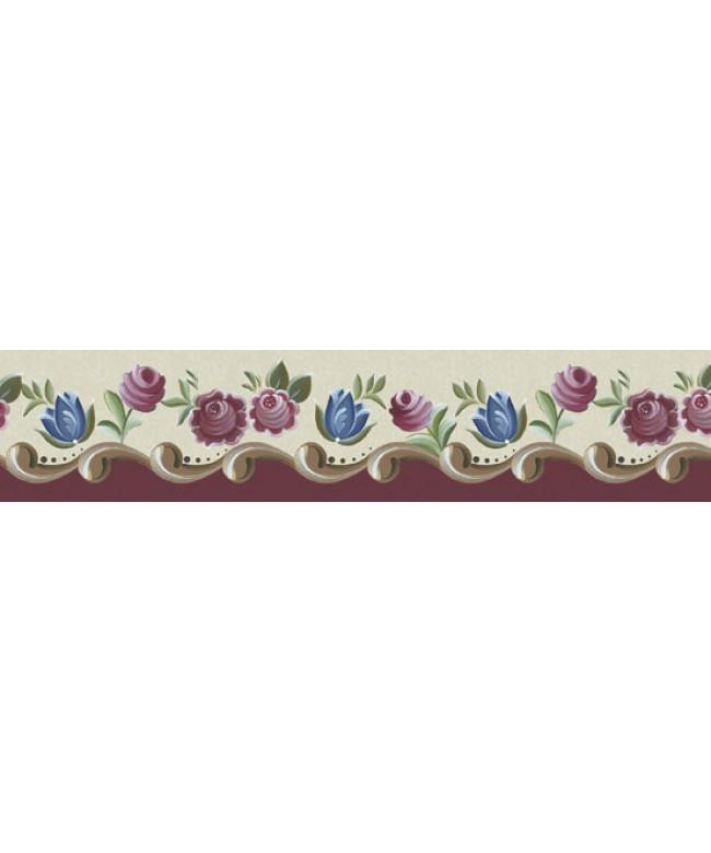 Barra adesiva IV  Arabescos flores - BDA-IV-452