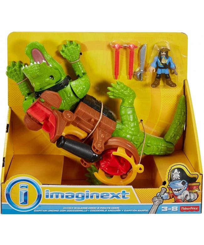 Brinquedo Imaginex Crocodilo e Capitão Gancho - Mattel