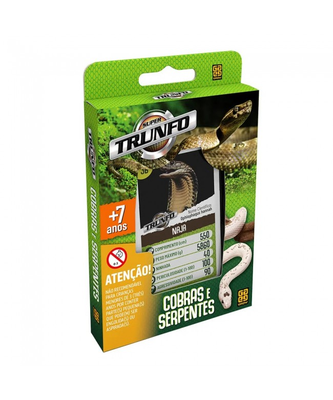 Trunfo cobras e serpentes - Grow